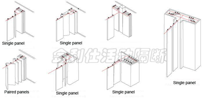Type 125 super high operable partitions movable folding for Sliding folding partitions movable walls