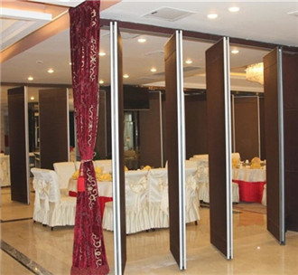 Hotel room sound insulation movable wall partition
