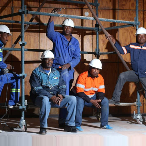 Congratulation on Botswana Francistown Civic centre hall acoustic movable partition wall  project turning over