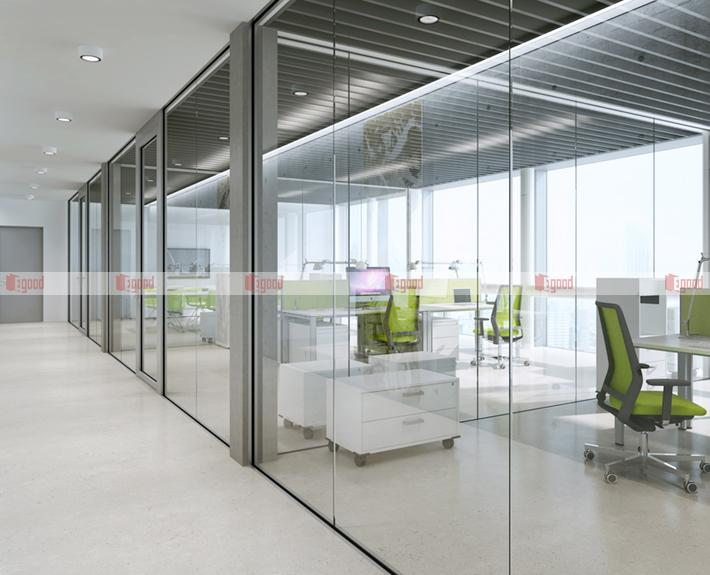 Glass partitions create high-end and upscale offices