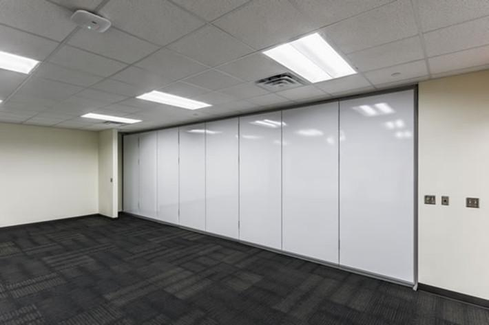 Operable wall white board finishing