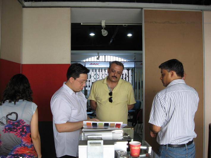 The Dacca Bangladesh clients visit Egood operable wall company