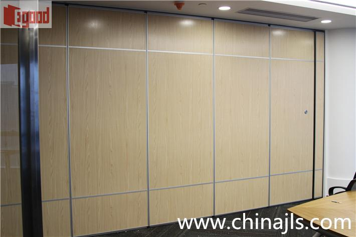 Maple wood melamine laminate finishes operable wall